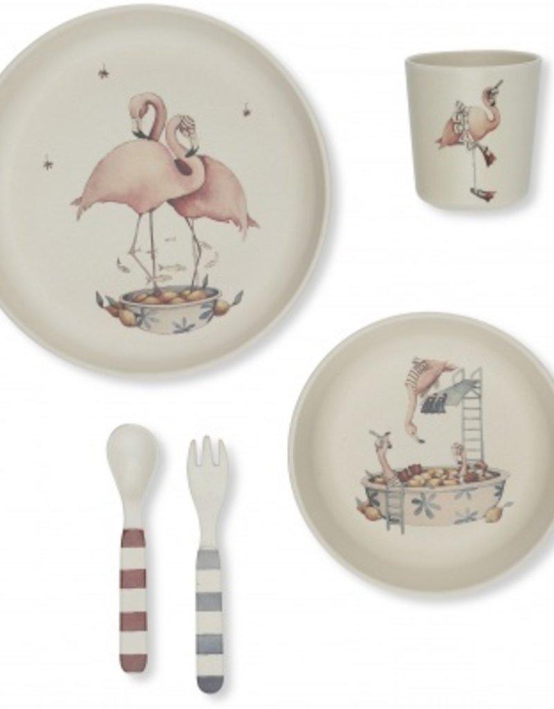 Kinderbestek flamingo