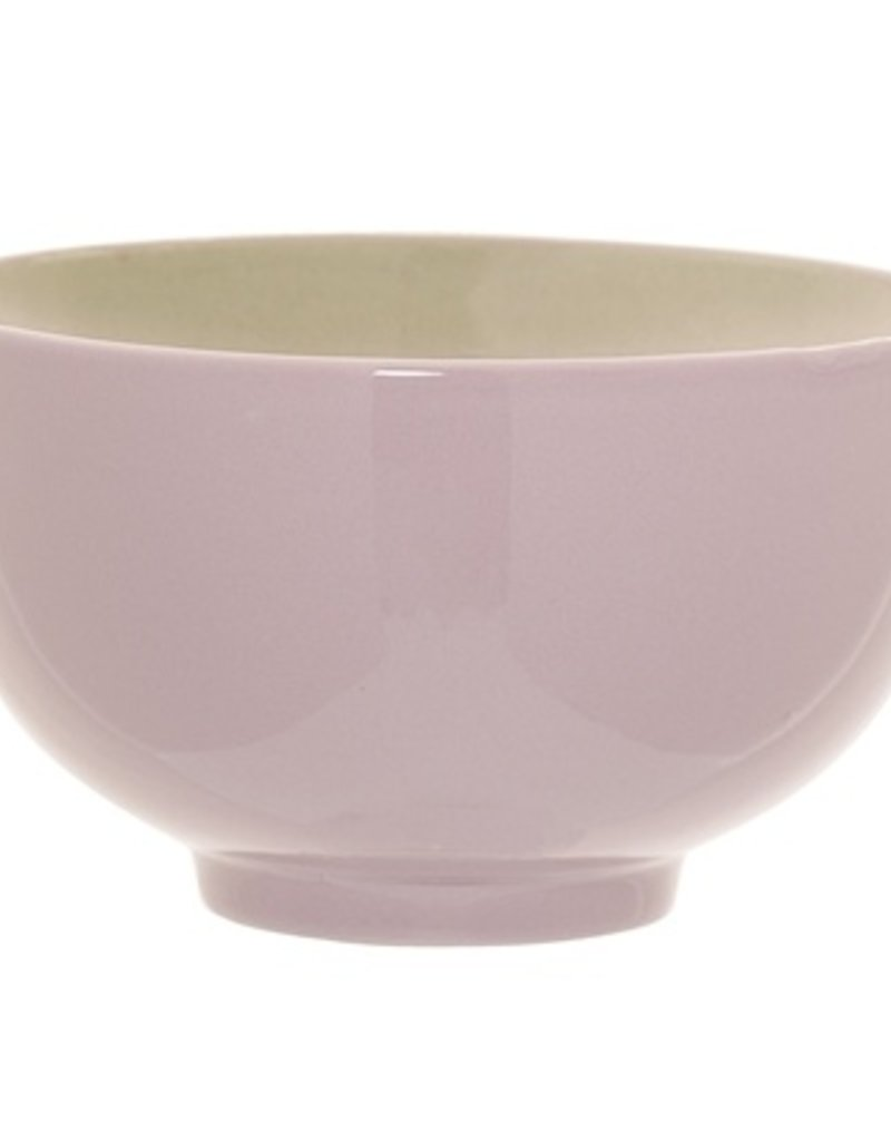 Pink bowl with dear