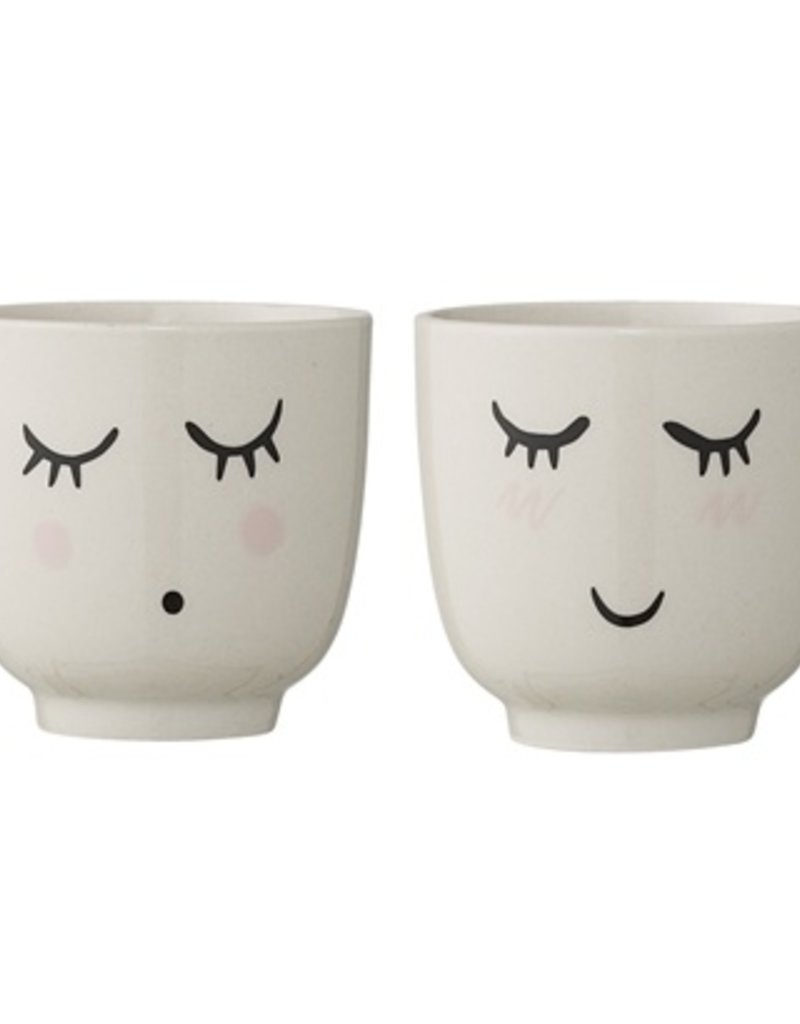 cup with face set of two