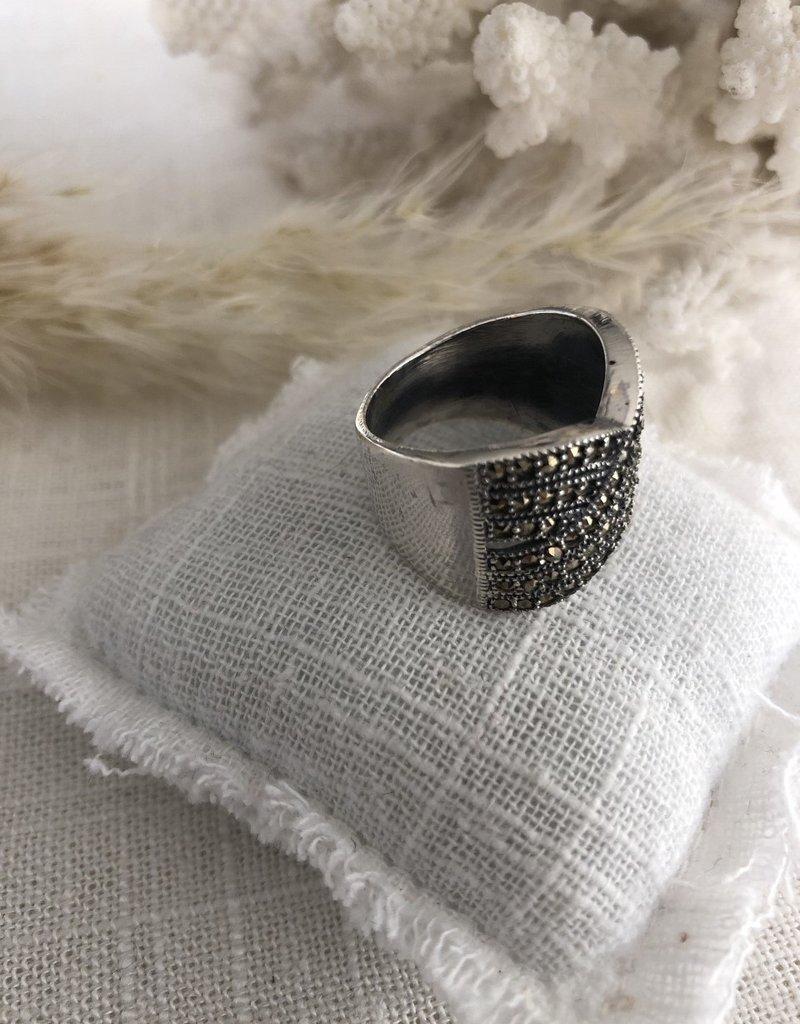Gevlochten ring met markasiet