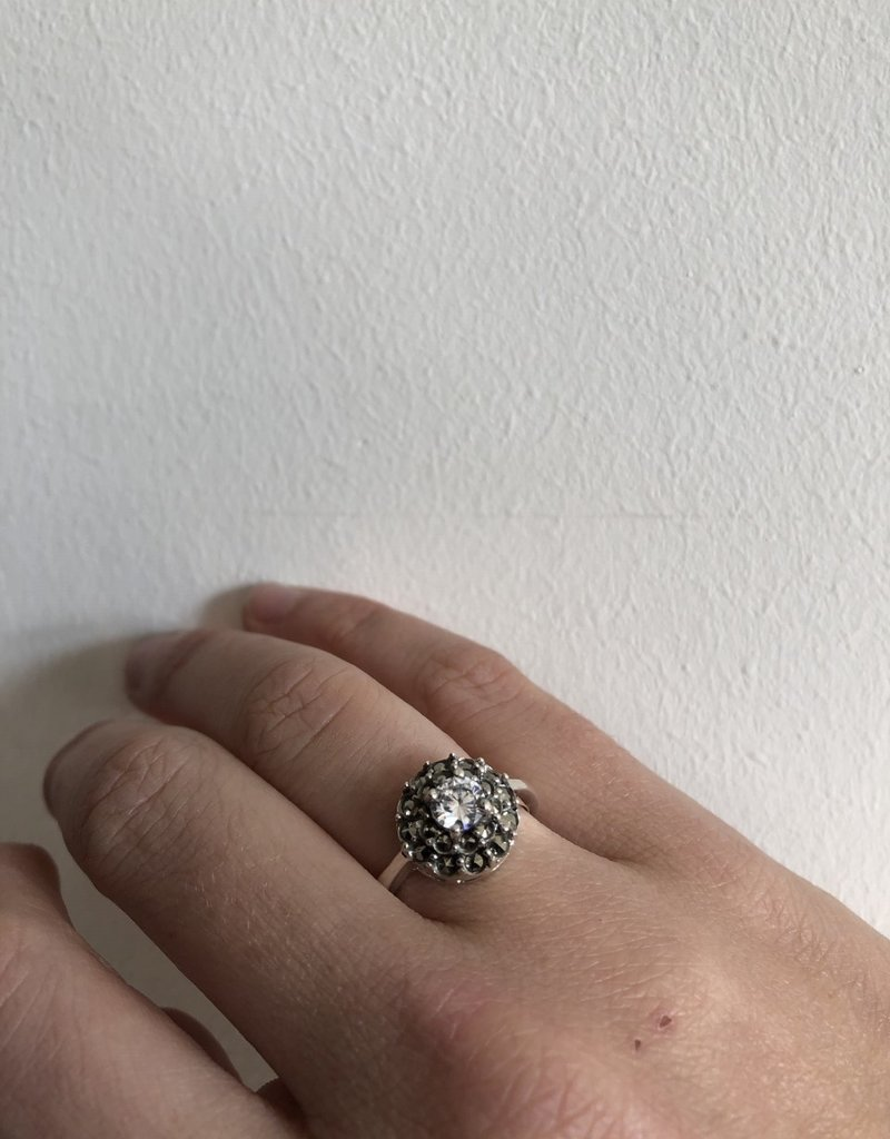 Ring with see-through stone