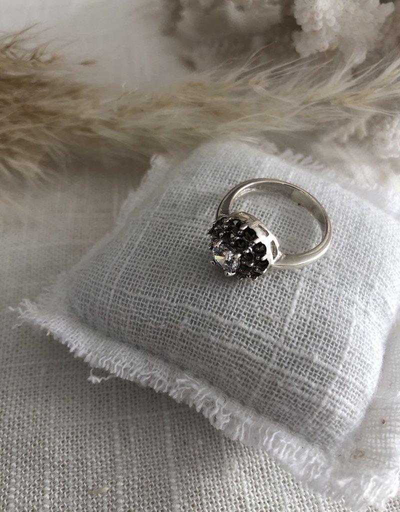 Ring met doorzichtige steen