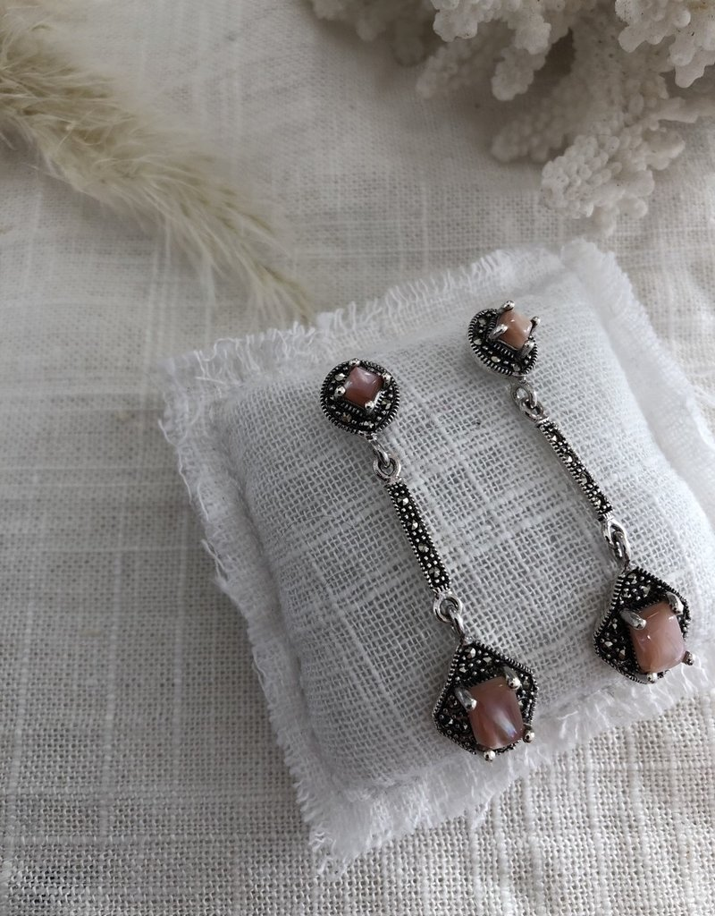 Earrings with mother of pearl