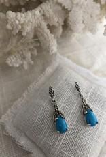 Blauwe oorbellen turquoise