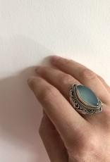 Ring ovaal met maansteen