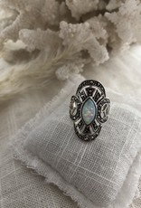 Ring with opal