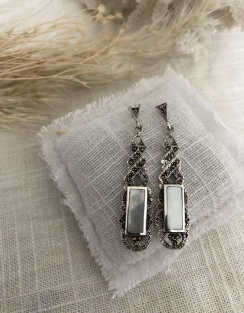 Rectangular earrings