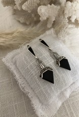 Earrings onyx