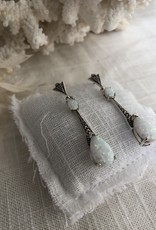 Opal earrings art deco