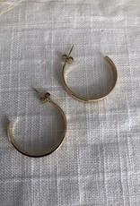 Ronde oorbellen met print