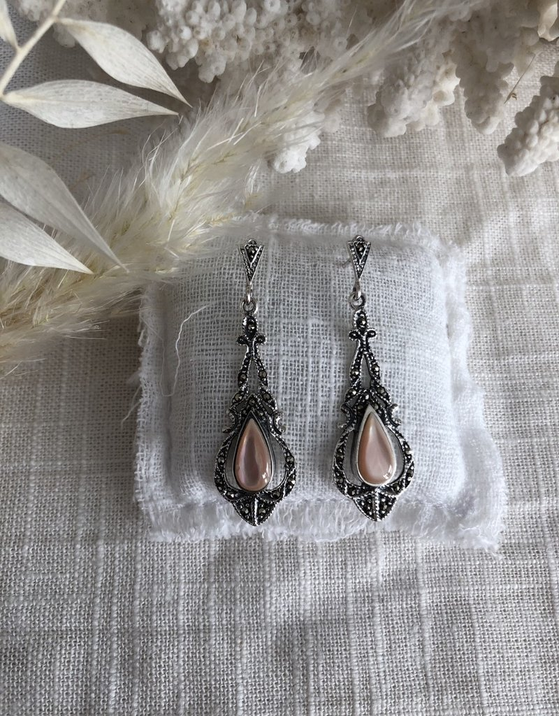 Earrings pink mother of pearl
