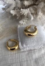 Chunky gouden oorbellen