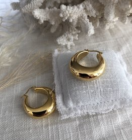 Chunky gold-plated earrings