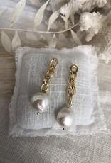 Vergulde chain oorbellen