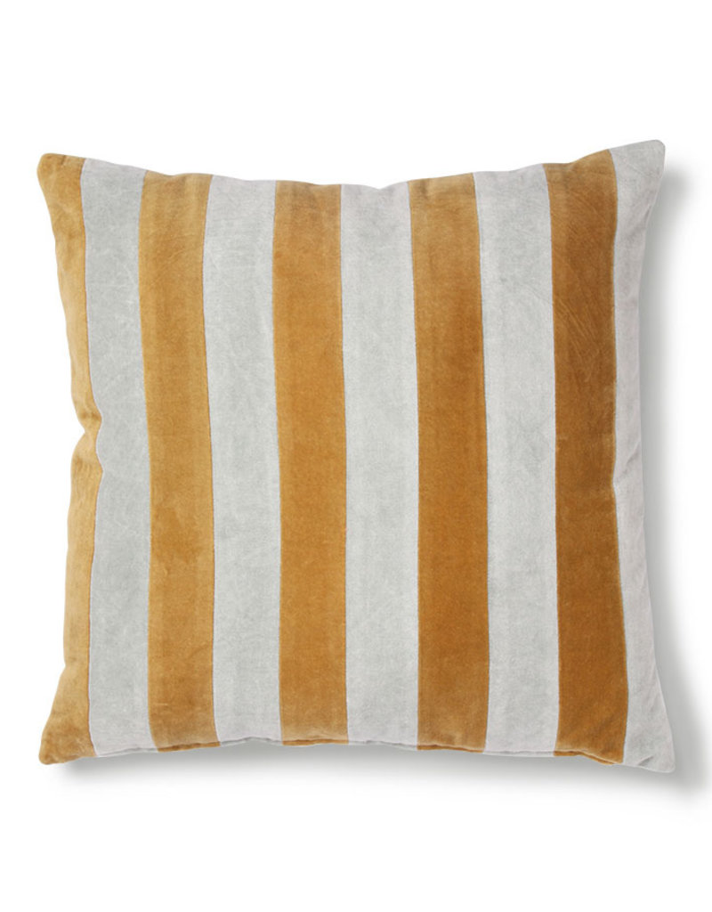 Velvet stripe pillow