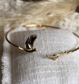 armband vogel met takje
