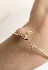 Bracelet bird with branch