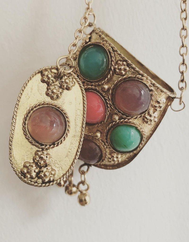 boho necklace with secret box