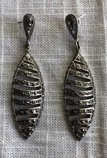 Long marcasite earrings
