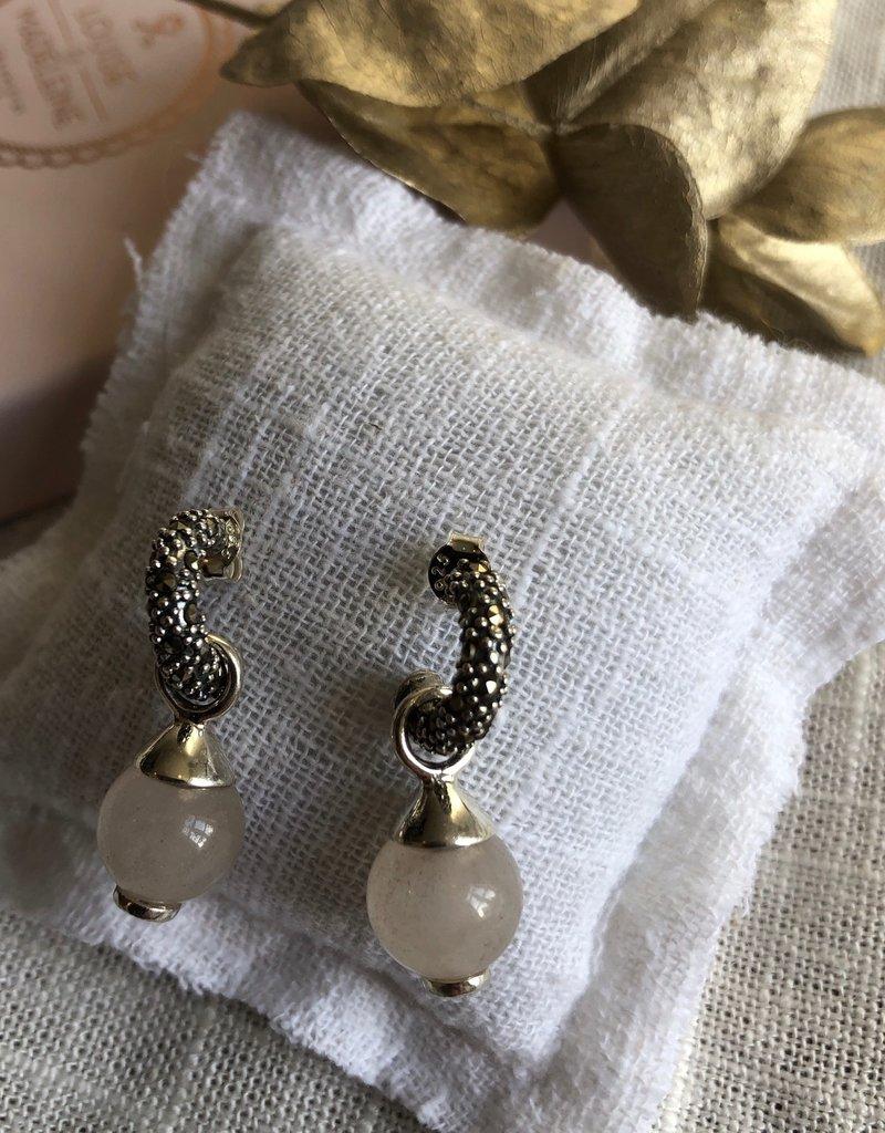 earrings pink quarts