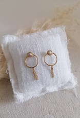 Earrings with small pearl