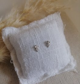 Small silver earrings