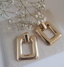 Gouden statement oorbellen