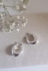 Chunky oorbellen zilver/goud