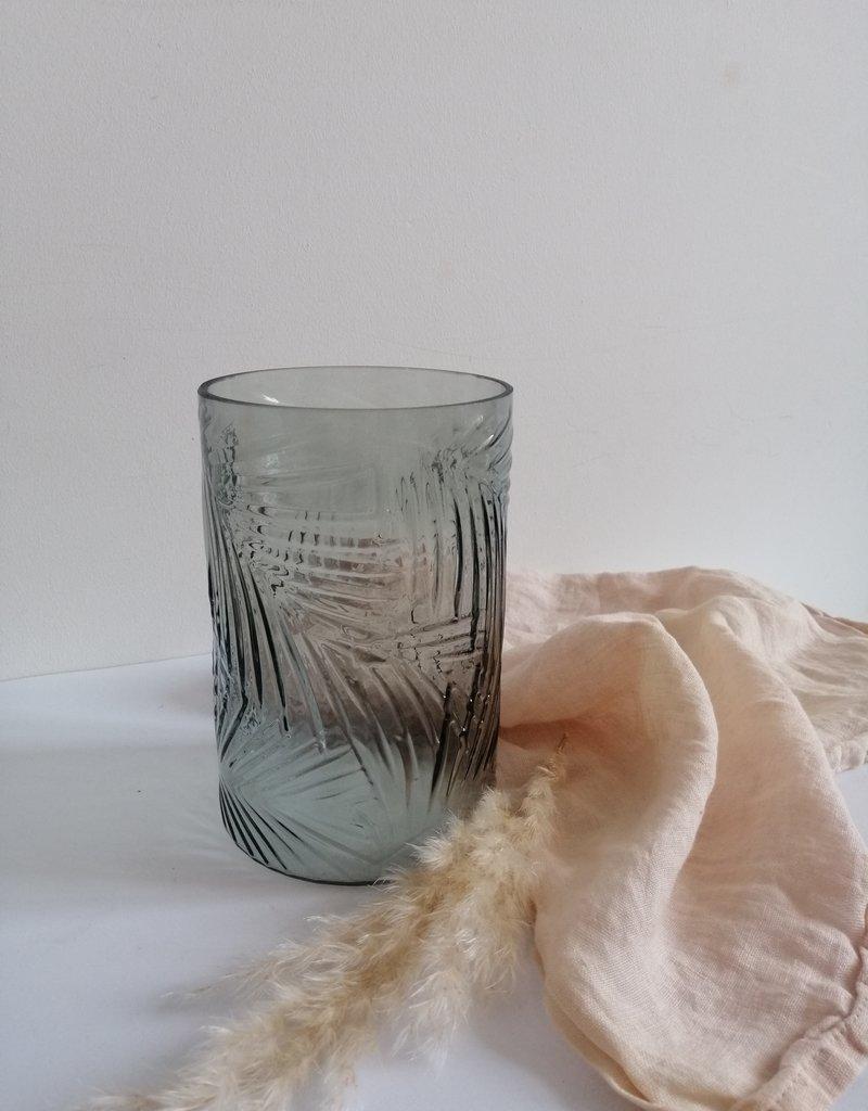 Vaas met palmprint
