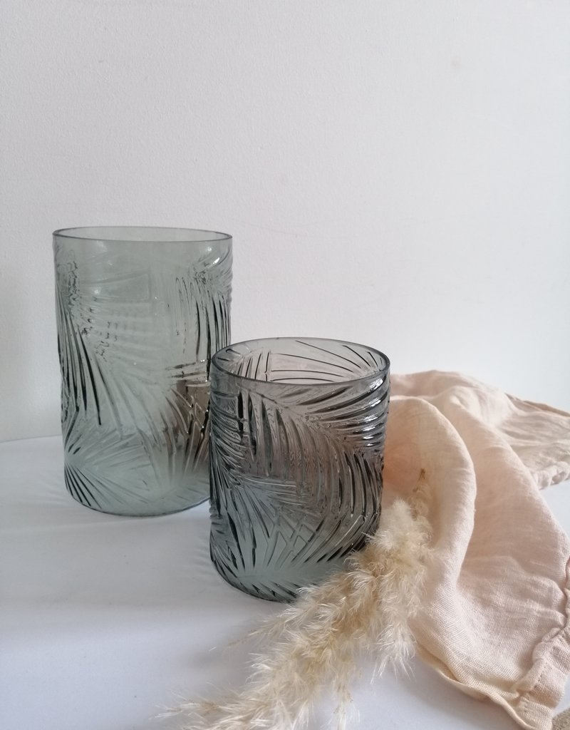 Vase with palm print