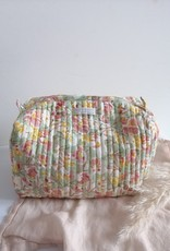 Toiletry bag green/orange