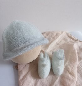 Newborn set turkoois handmade