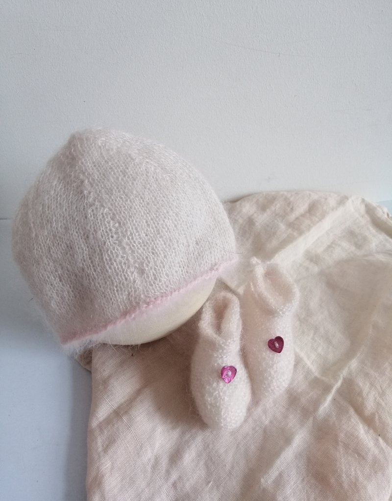 Newborn set white/pink
