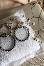 Oorbellen gedraaid zilver/goud