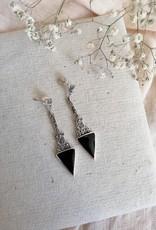 Earrings in onyx