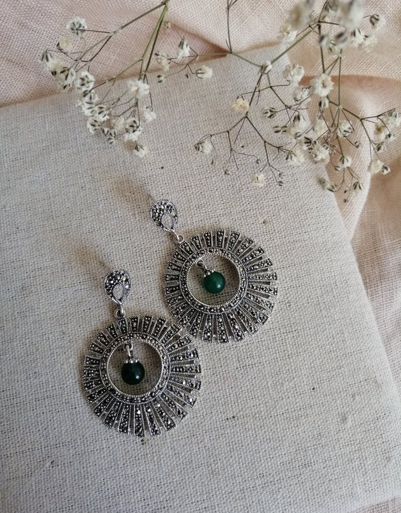 Earrings agate
