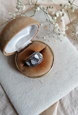 Ring druppelvormige parelmoer