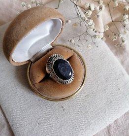 Ring lapis lazuli polished