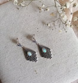Earrings opal