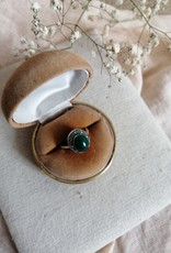 Ring green agate