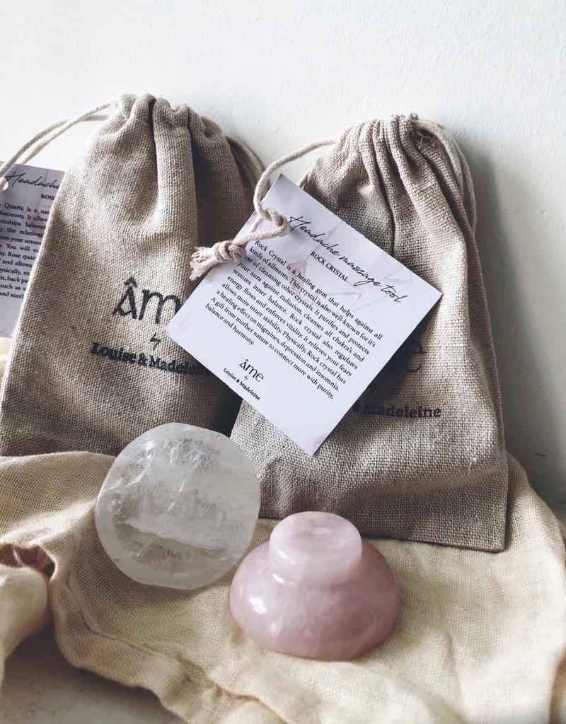 Rock crystal massage tool