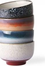 Ceramic 70'S Bowls Set Of 4