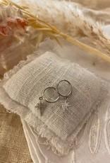 Zilveren oorringen met hanger