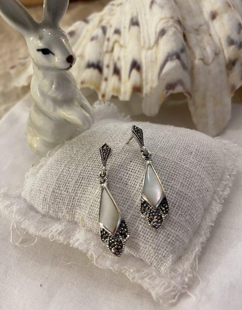 Silver earrings mother of pearl