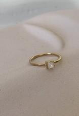 Ring met maansteen