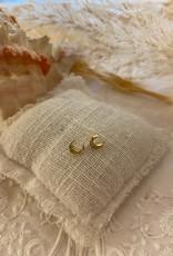 Kleine maanvormige oorbellen met steentjes