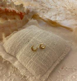 Little moon shaped earrings