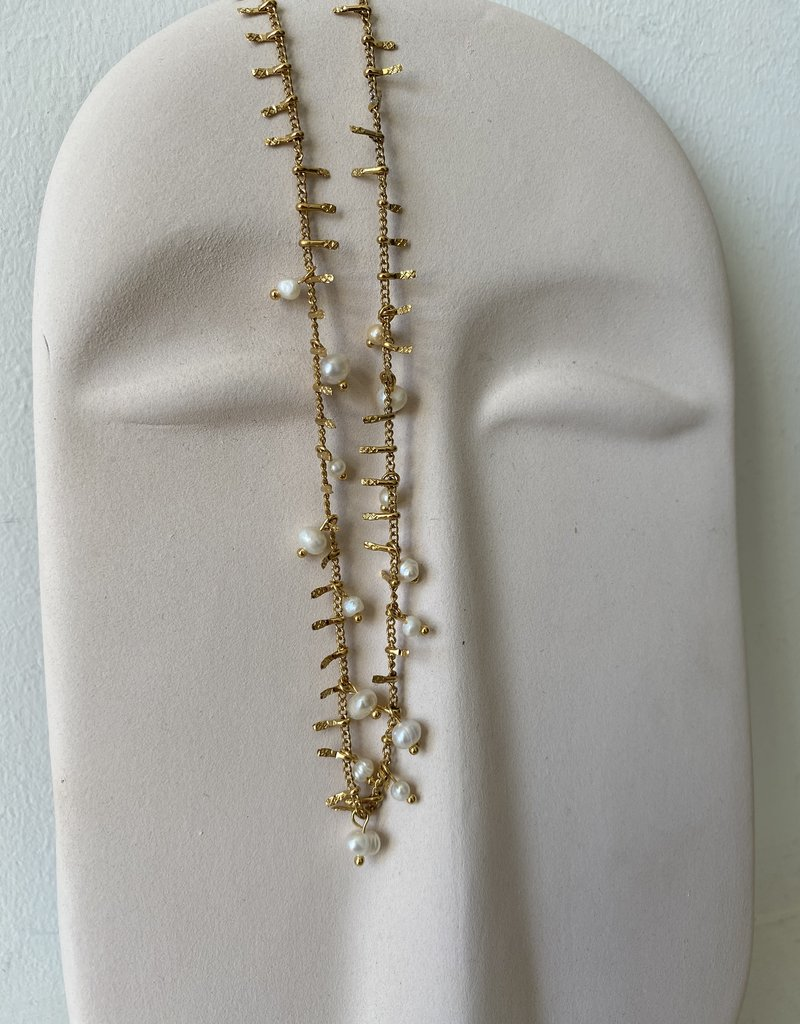 NECKLACE WHITE PEARLS