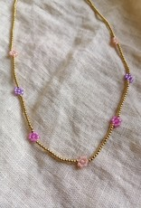 FLOWER NECKLACE PINK