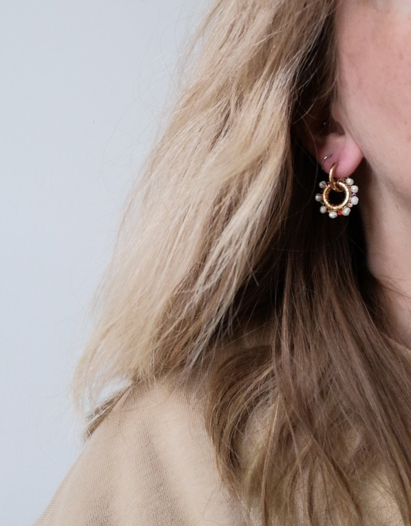 EARRINGS WITH BEADS